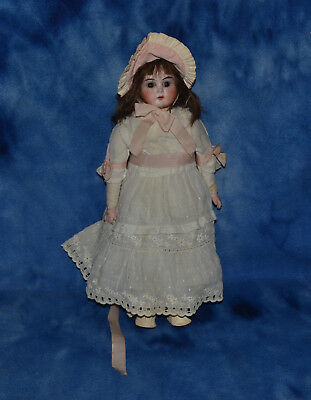 Vintage Antique Bisque Porcelain Head Germany Doll Cloth Body- Needs Tlc
