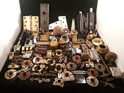 Lot of Vintage BackPlate Rustic Art Craft Lock Key Hinge (Steampunk) Knob (K39)