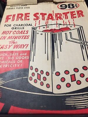 Beauty Vent Fire Startee for Charcoal Grills set of 4 used Vintage