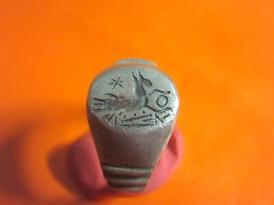 Ancient Silver Roman Ring.Capricorn.Legio IV Scythica