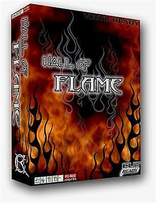 ONE of a Kind FLAME VECTOR CLIP ART FOR SIGN VINYL SIGN CUTTER - RACING FLAMES