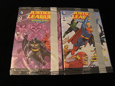 2014 General Mills Dc Comics Justice League Mini Comic 5 And 7 - New & Sealed