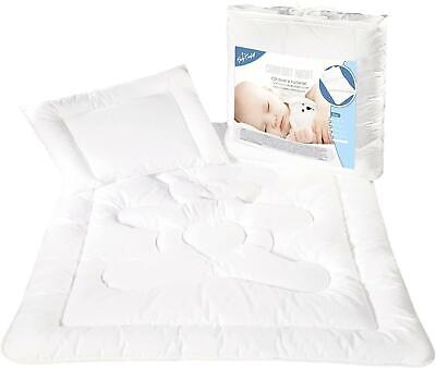 Baby Crib, Pram Duvet & Pillow Filling Set 80x70cm 100% Cotton Opt.8