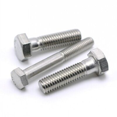 M6/M8 G304 Stainless Steel Hex Head Screws Metric Coarse Part Threaded Bolts