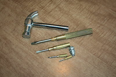 Vintage 6 Piece GAM Claw Hammer Slotted Screwdriver Complete! See Pix!!