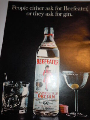 Vintage Beefeater Dry Gin Print Magazine Advertisement 1973