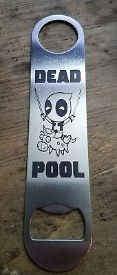 Deadpool stainless steel bottle opener/church key