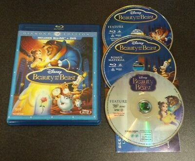 Beauty and the Beast (Blu-ray & DVD, 2010, 3-Disc Diamond Edition) Disney film
