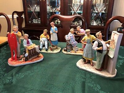 """Norman Rockwell Four Seasons  First Edition 1957 """"New Year Look""""  Figurines"""