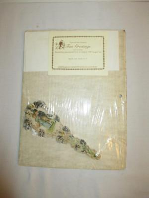 """Turn of the Century Paper Reproduction 1901 3 x 7"""" Fan Greeting Card"""
