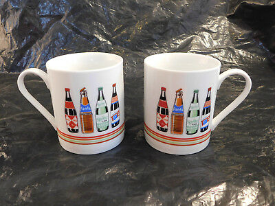 Set of 2 White Gibson Coca-Cola Coffee Mug/Cup with Coke Spirit Fanta and Tab
