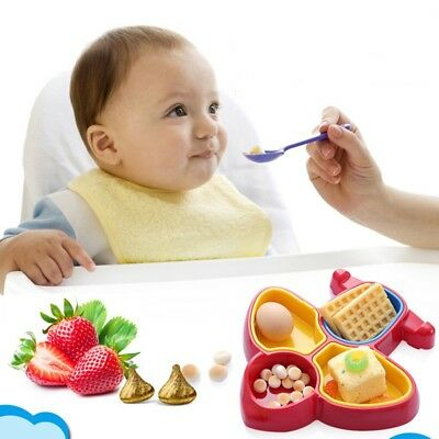 Baby Feeding Dish Kids Plane Modeling Table Food Tray Plate Bowl Non Slip Dishes