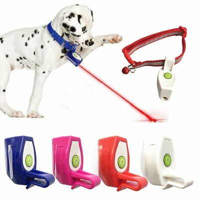 Pet Dog Cat Collar Laser Light Fun Training Toys  Kitten Interactive Clip Gifts