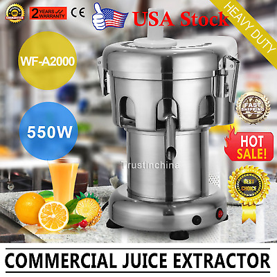 Commercial Juicer Machine Juice Masticating Fruit Vegetable Extractor Maker NEW