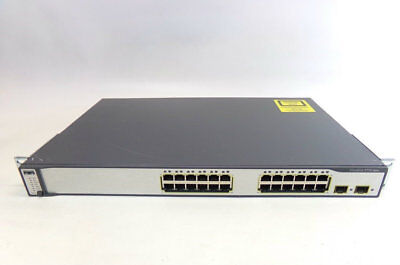 Cisco Catalyst 3750 WS-C3750-24PS-S V04 24-Port PoE Ethernet Switch