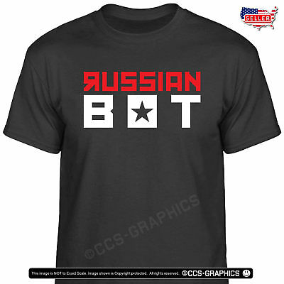 RUSSIAN BOT T-Shirt - tweet trump train putin campaign t shirt usa tee MAGA 2020