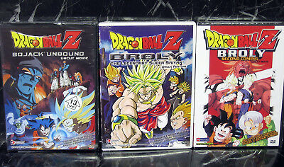 *NEW SEALED!* DRAGON BALL Z DVD Broly, Bojack Unbound, Broly Second Coming UNCUT