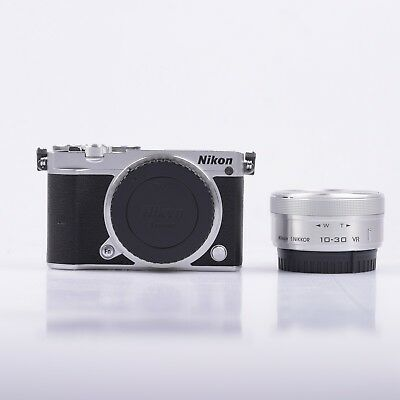 Nikon 1 J5 Mirrorless Digital Camera with 10-30mm Lens Silver