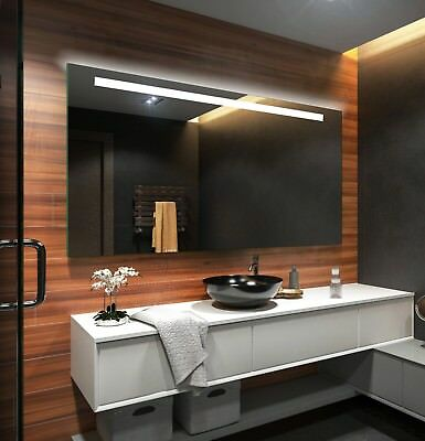 LED Illuminated Bathroom Mirror L12 To Measure Custom Size