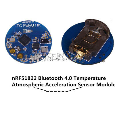 Bluetooth 4.0 nRF51822 Temperature Atmospheric Acceleration Sensor Module CR2032