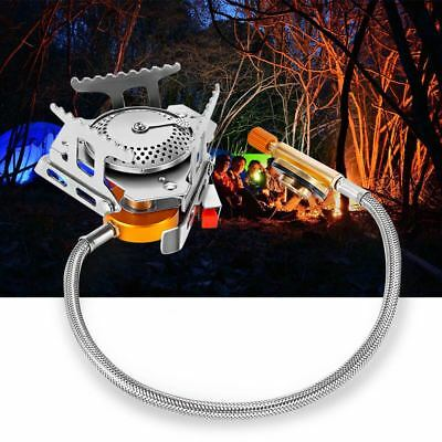 Outdoor Camping Hiking Gas Burner Split Type Stove Head with Electronic Ignition