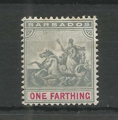 BARBADOS 1896 QUEEN VIC 1/4d SLATE-GREY & CARMINE SG,105 M/MINT LOT 6192A