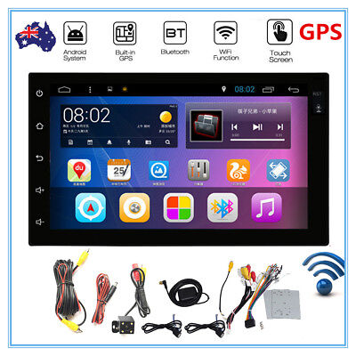 "Quad Core Android 4.4 WIFI 3G 7"" 2DIN Car Radio Stereo DVD Player GPS + Cam"