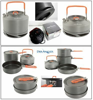 Fox Kochgeschirr Medium Large Kochset 3 tlg 4tlg Wasserkessel 0,9l 1,5l Kettle