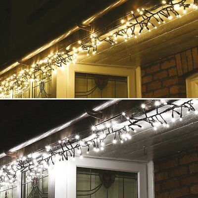 ConnectPro Connectable Outdoor Christmas LED Cluster Fairy Lights | Garden Home