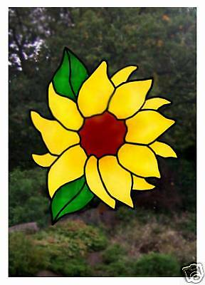 Sunflower Stained Glass Effect window decal / Cling