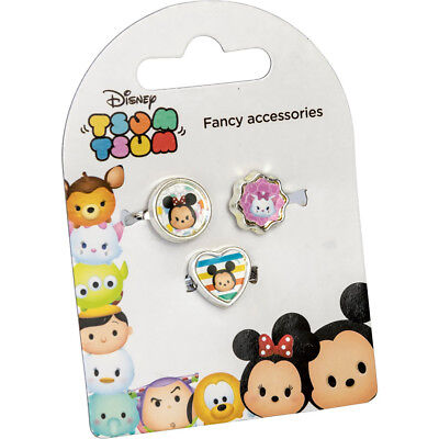Disney Tsum Tsum 3 Charm Rings Girls Childrens Mickey Mouse Minnie Mouse & Mari
