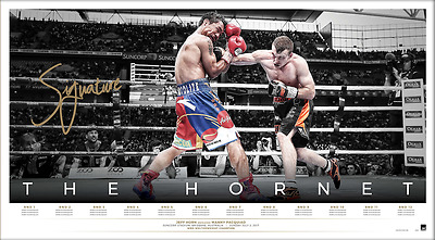 The Hornet - Jeff Horn World Champion Signed Icon Series Lithograph UNFRAMED !!
