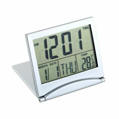 Travel Digital LCD Thermometer Calendar Alarm Clock Flexible Cover