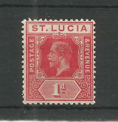 ST LUCIA 1912 GEORGE 5TH 1d CARMINE-RED SG,79 M/MINT LOT 6214A