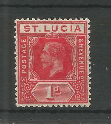 ST LUCIA 1912 GEORGE 5TH 1d ROSE-RED SG,79b M/MINT LOT 6215A