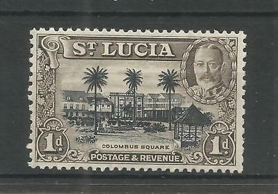ST LUCIA 1936 GEORGE 5TH 1d BLACK AND BROWN SG,114a M/MINT LOT 6221A