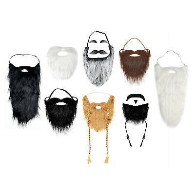 Self-Adhesive or Elasticated Fancy Dress Fake Beards (Various Styles)