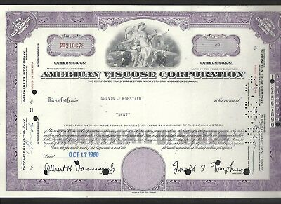 American Viscose Corporation Aktie 17.10.1960