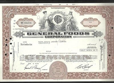 General Foods Corporation Aktie 06.03.1973