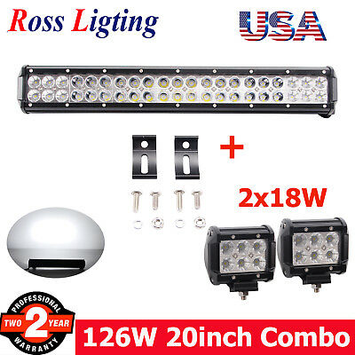 Rou 70718bl rough country black 8 inch cree led light bar 20in 126w cree led light bar offroad tractor suv car atv ute 4wd truck mozeypictures Image collections