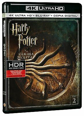 Harry Potter Y La Camara Secreta Blu Ray 4K Ultra Hd Nuevo ( Sin Abrir )
