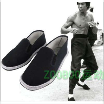 China Martial Art Kung Fu Ninja cloth Shoes Slip On RUBBER Sole-Canvas Slippers