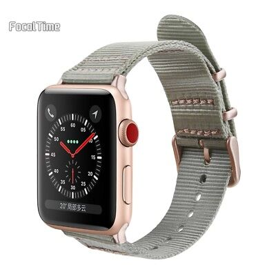 Apple iWatch Watch Band Strap 38mm Series 1 2 3 for Men Women Girls Nylon Rose