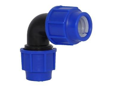 MDPE Plastic Compression 90 Degree Elbow 20mm 25mm 32mm Irrigation, water Pipe.