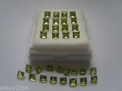 4mm square peridot gemstone,£1.50p each.