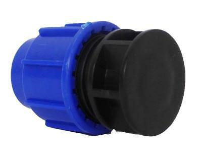 Compression End Cap, Stop for  20mm 25mm 32mm MDPE Irrigation Pipe
