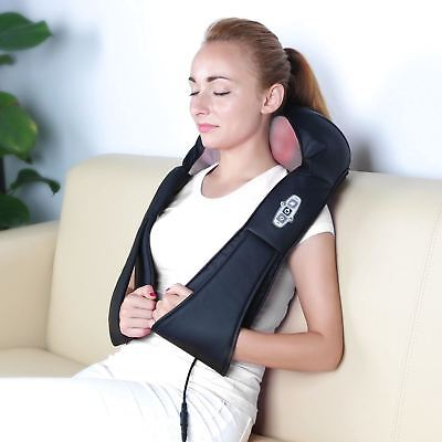 New Electric Shiatsu Kneading Neck Shoulder Body Back Foot Massager Heated