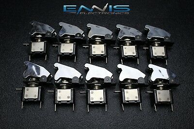 10 PCS TOGGLE SWITCH ON OFF BLUE MINI LED 12V 20 AMP RACE NITROUS EPS-3015BL