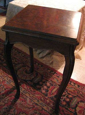 "Antique Tuscan Table-Walnut/Mahogany? Wood-12.5""x13.5""x21.5"" High"