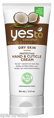 Yes To Coconut Organic Dry Skin Protecting HAND & CUTICLE CREAM 85ml